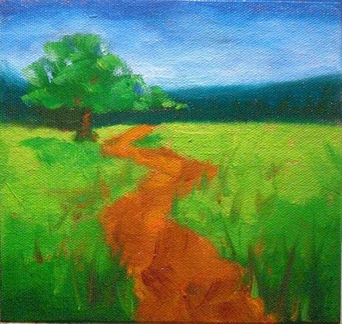 """""""#20 Lone Oak, The Month of May"""" original fine art by Kathy Johnson"""