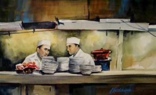 """Short Order"" original fine art by Kathy Los-Rathburn"