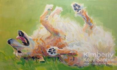 """Bear's Backscratch"" original fine art by Kimberly Santini"