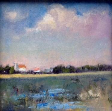 """Beach Houses, Edisto Island"" original fine art by Connie Snipes"