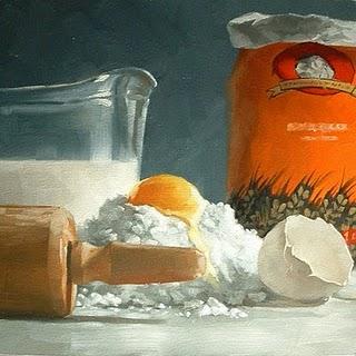 """Bakery Prep No.2"" original fine art by Michael Naples"