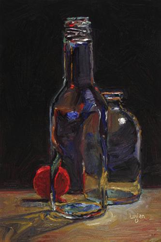 """Red Cap"" original fine art by Raymond Logan"