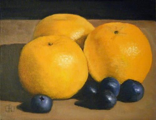 """Clementines and Blueberries"" original fine art by Gary Westlake"