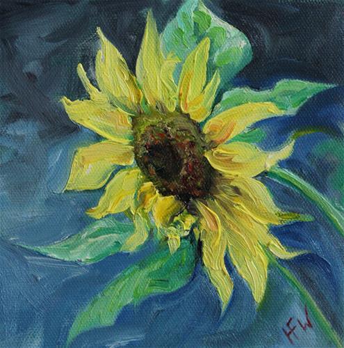 """""""Sunflower - Challenge"""" original fine art by H.F. Wallen"""