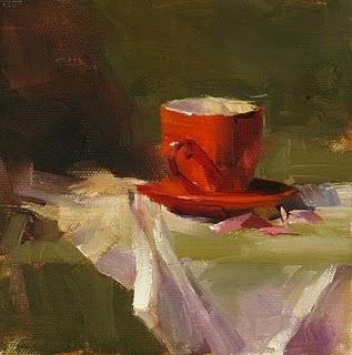 """Tea for You --- Sold"" original fine art by Qiang Huang"