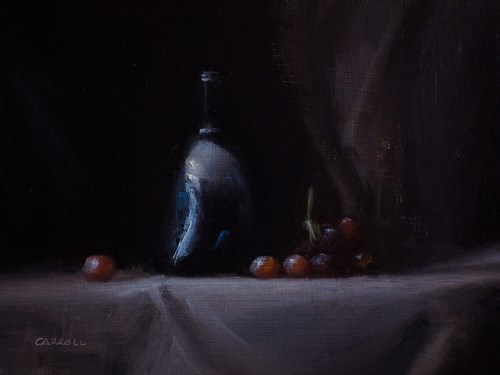 """""""Still Life with Red Grapes"""" original fine art by Neil Carroll"""