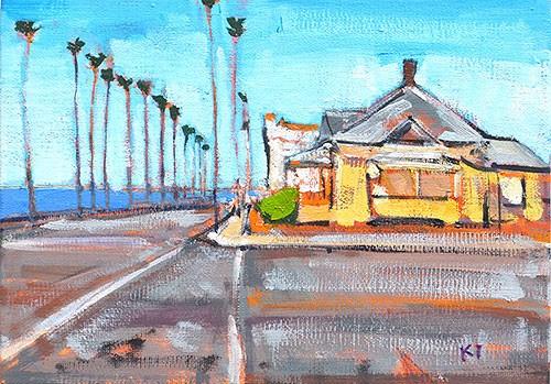 """House from Top Gun, Oceanside"" original fine art by Kevin Inman"