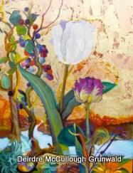 """""""Rabbit Run"""" original fine art by Deirdre McCullough Grunwald"""