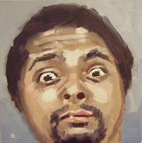 """""""FACE-IT.  #16"""" original fine art by Helen Cooper"""