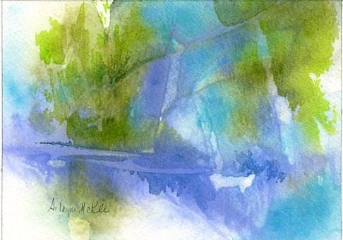 """""""By the Water #2"""" original fine art by Arlayne McKee"""