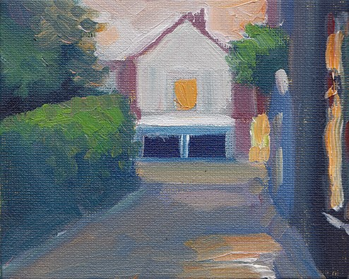 """Hitchin Evening"" original fine art by J M Needham"