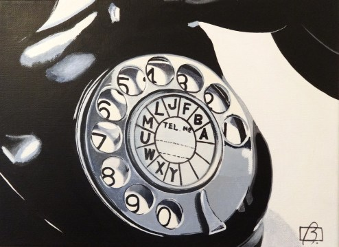 """Rotary Phone"" original fine art by Andre Beaulieu"