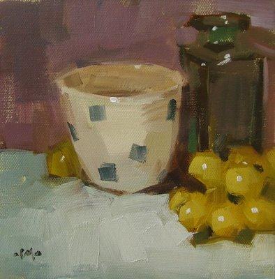 """Hidden Grape & Just You & Me"" original fine art by Carol Marine"
