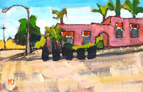 """19th and K, San Diego"" original fine art by Kevin Inman"