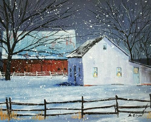 """Goering's Farm"" original fine art by Steve Gibson"
