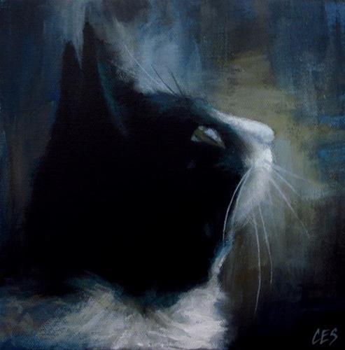 """Tuxedo Dreamin'"" original fine art by ~ces~ Christine E. S. Code"