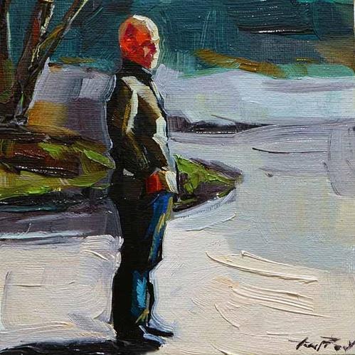 """""""in der Mittagspause"""" original fine art by Jurij Frey"""