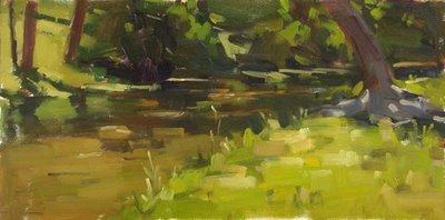 """Salado Creek - nfs"" original fine art by Carol Marine"