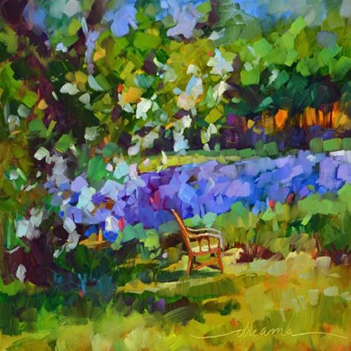 """""""The Art of Lavender Sitting"""" original fine art by Dreama Tolle Perry"""