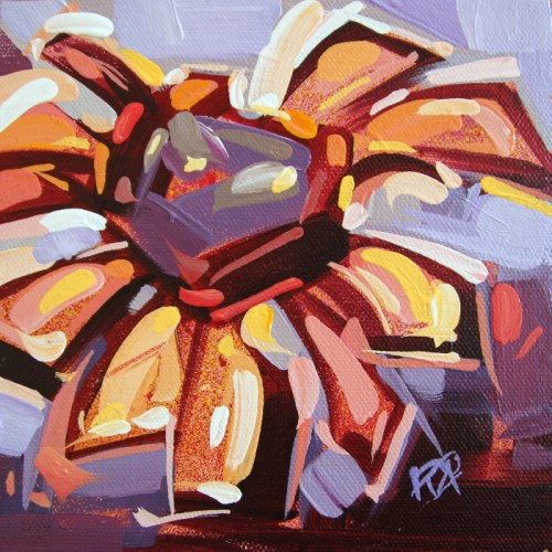 """""""Flower Abstraction 206"""" original fine art by Roger Akesson"""
