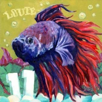 """""""LOUIE"""" original fine art by Kristy Tracy"""