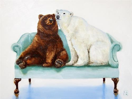 """cheek to cheek"" original fine art by Kimberly Applegate"