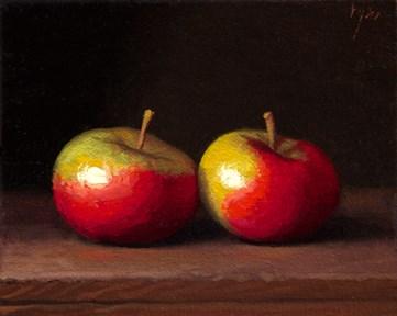 """Two Lady Apples (Yin & Yang)"" original fine art by Abbey Ryan"