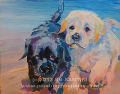 """""""Incoming, In Process"""" original fine art by Kimberly Santini"""