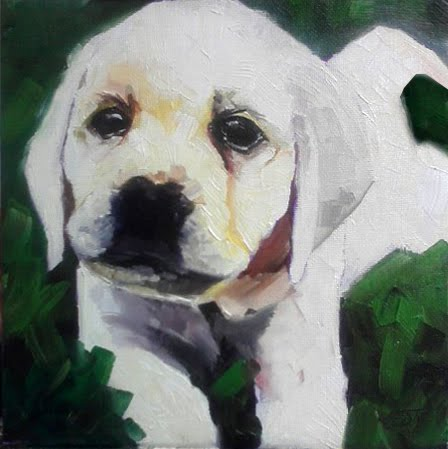 """#35 - Puppy Parker No. 2"" original fine art by Elizabeth Dawn Johnston"