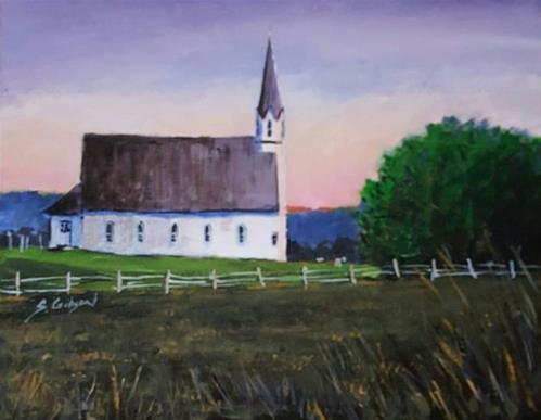 """""""Sunrise over Ricketts"""" original fine art by Steve Gibson"""
