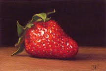 """Strawberry"" original fine art by Abbey Ryan"
