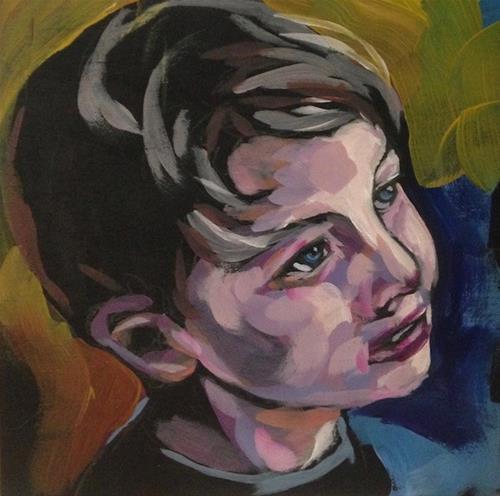 """Max Says Please?"" original fine art by Kat Corrigan"