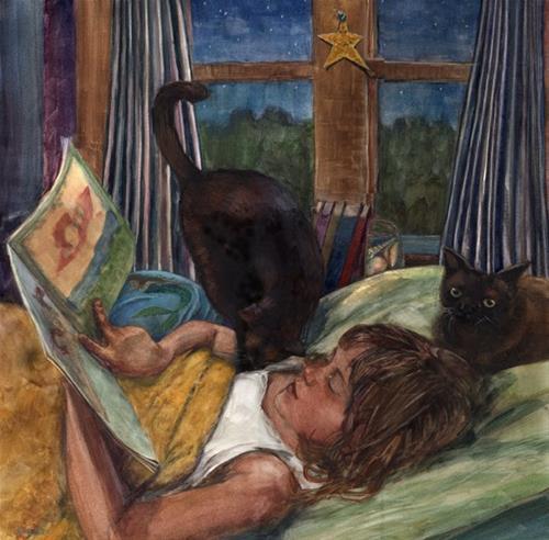 """""""Watercolor: Mermaid Story Time (& art #linklove)"""" original fine art by Belinda Del Pesco"""