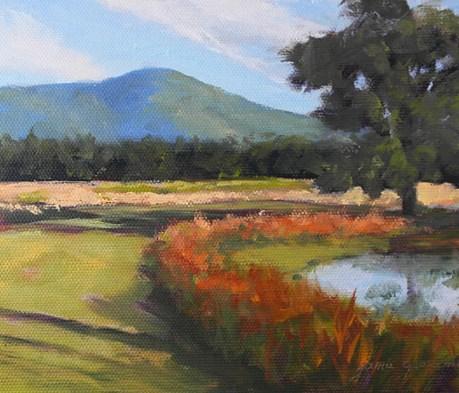 """Path to the Mountains"" original fine art by Jamie Williams Grossman"