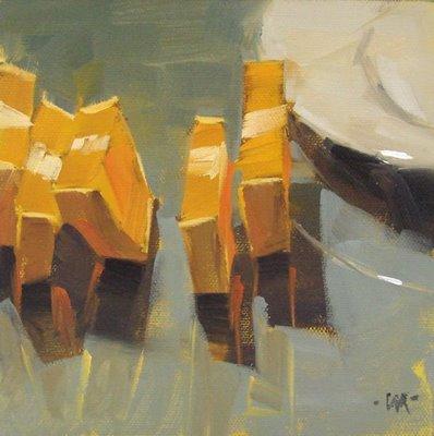 """Vertical on Glass"" original fine art by Carol Marine"