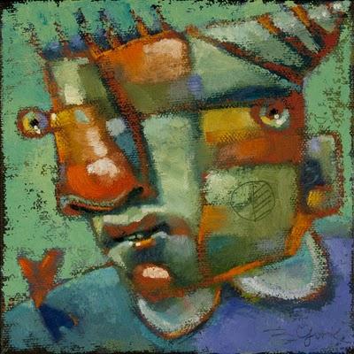 """Nigel's Heart On The Line"" original fine art by Brenda York"