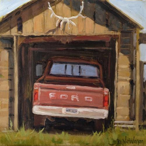 """Flat Tire"" original fine art by Deborah Newman"