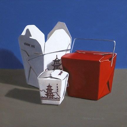 """Chinese Take Out"" original fine art by Nance Danforth"