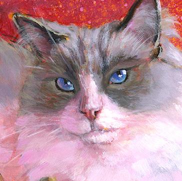 """Ragdoll Princess"" original fine art by Lesley Spanos"