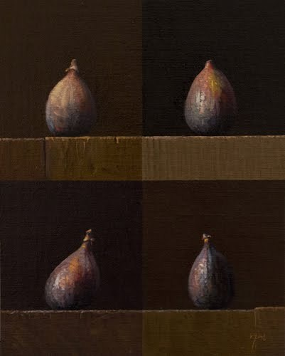 """""""Four Figs (larger painting)"""" original fine art by Abbey Ryan"""
