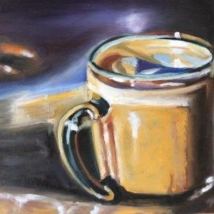 """Cup of coffee"" original fine art by Sonja Neumann"