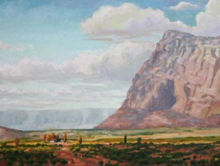 """""""At the Foot of Giants"""" original fine art by K.R. McCain"""
