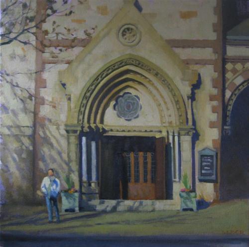 """""""The Church doors"""" original fine art by Kathy Weber"""