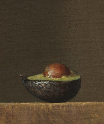 """Avocado Half     (+ Musings on a Painting Subject)"" original fine art by Abbey Ryan"
