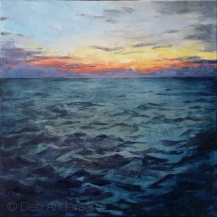 """""""Oil Painting: Sea Map I"""" original fine art by Deb Anderson"""