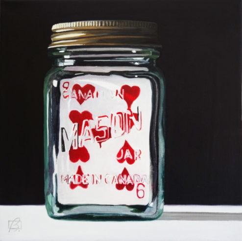 """""""9 in a Jar"""" original fine art by Andre Beaulieu"""