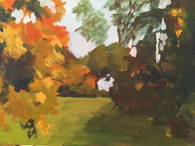 """About Fall"" original fine art by Libby Gilpatric"