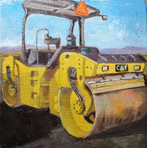 """Steam Roller"" original fine art by Robert Frankis"