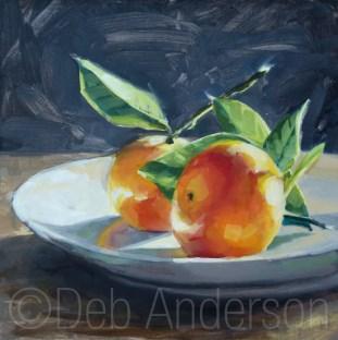 """Mandarin Oranges, redux"" original fine art by Deb Anderson"