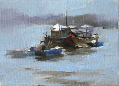 """Morning Calm --- Sold"" original fine art by Qiang Huang"